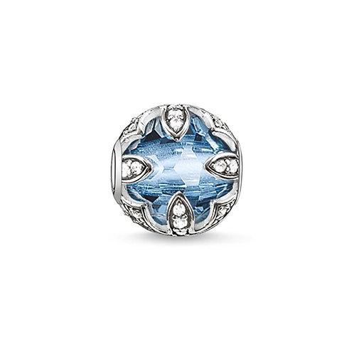 Thomas Sabo Karma Faceted Light Blue Lotus Charm -K0106-644-1
