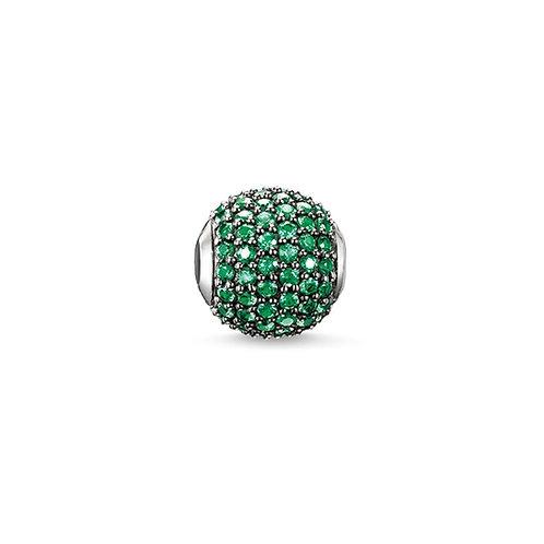 Thomas Sabo Karma Green Pave Charm - K0116-667-6