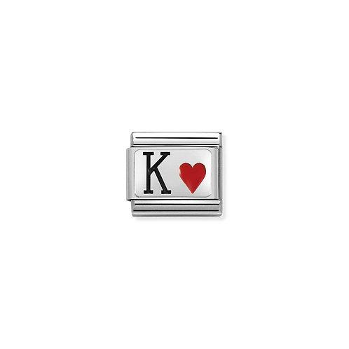 Nomination Silvershine King of Hearts Charm Link - 330208/28