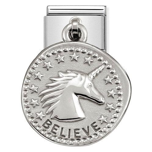 Nomination Silvershine Believe Dangle Charm Link - 331804/02