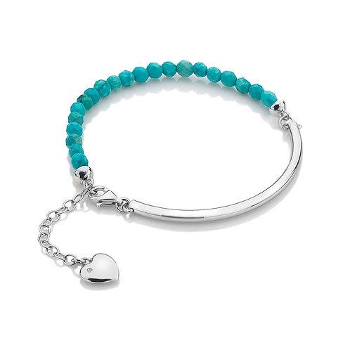 Hot Diamonds Sterling Silver Turquoise Festival Bracelet  - DL307