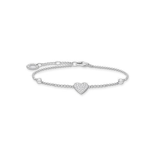 Thomas Sabo Silver CZ Heart Bracelet - A1992-051-14