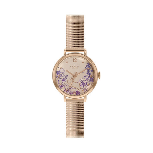 RADLEY Ladies Rose Gold Tone Mesh Strap Watch - RY4524