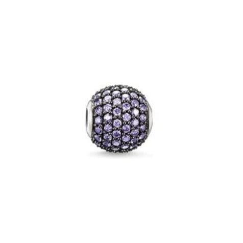 Thomas Sabo Karma Purple Pave Bead Charm - K0112-643-13