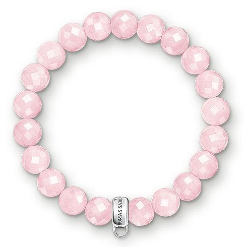 Thomas Sabo Charm Club Rose Quartz Bracelet - X0191-034-9