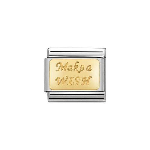 Nomination Gold Classic Make a Wish Charm Link - 030121/43