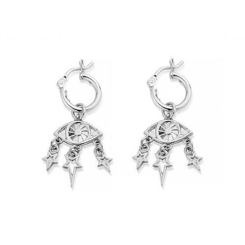 ChloBo Sterling Silver Stardust Hoop Earrings - SEH2002