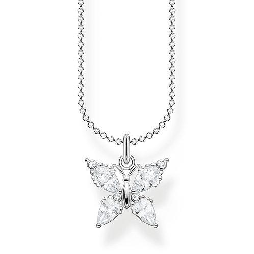 Thomas Sabo CZ Silver Butterfly Necklace - KE2101-051-14