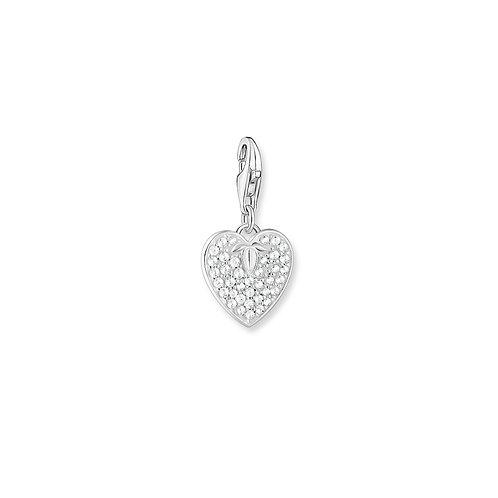 Thomas Sabo Silver Clear CZ Heart Charm - 1864-051-14