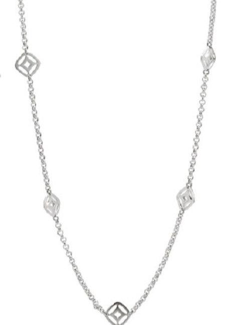 Fossil Women's Stainless Steel Fancy Necklace