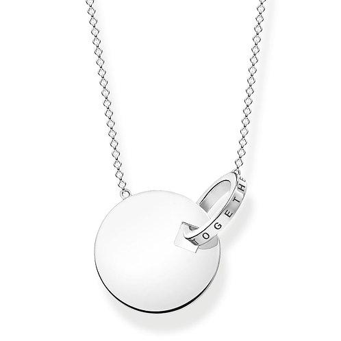 Thomas Sabo Sterling Silver Together Forever Necklace - KE1947-637-21