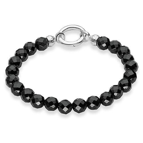 Thomas Sabo Black Obsidian Bead Bracelet - A1091-023-11-M