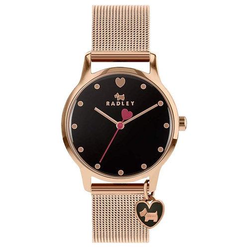 RADLEY Ladies Rose Gold Tone Mesh Strap Watch - RY4366S
