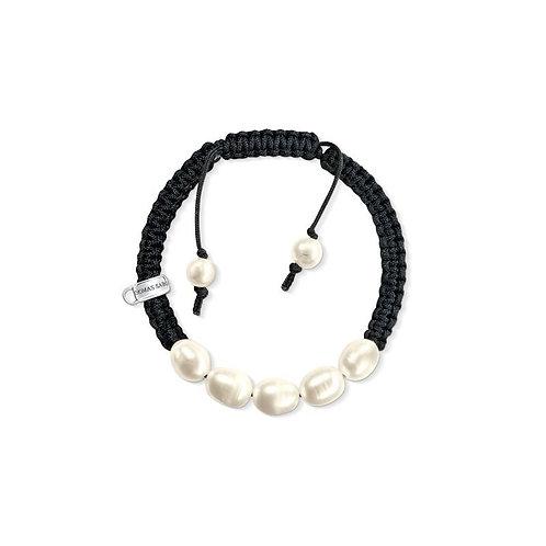 Thomas Sabo Five Pearl Woven Nylon Charm Bracelet - X0165-170-11