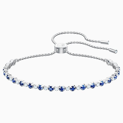 SWAROVSKI Subtle Bracelet in Rhodium with Clear/Blue Crystal - 5465383