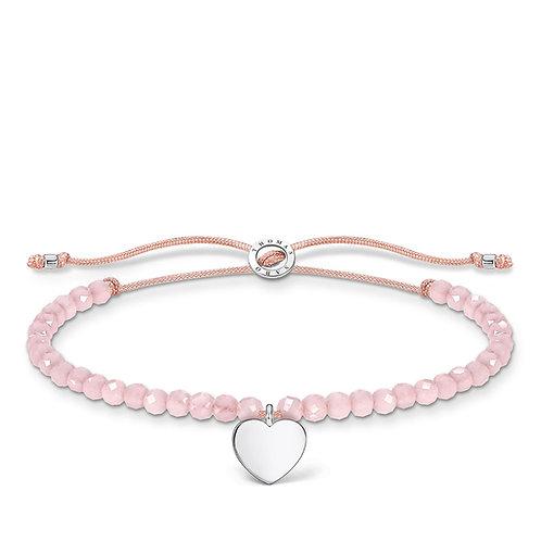 Thomas Sabo Pink Quartz Faceted Bead Bracelet - A1985-813-9-L20v
