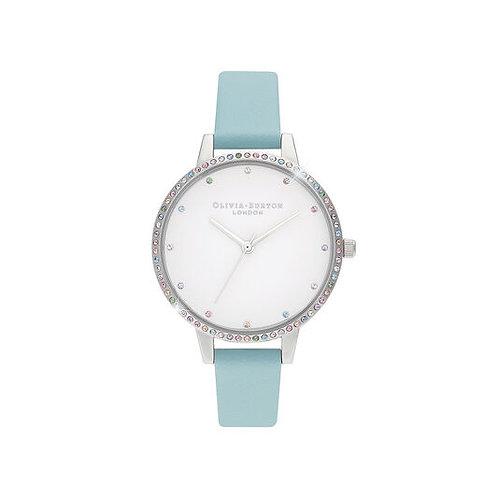 Olivia Burton Rainbow Bezel Turquoise Strap Watch - OB16RB19
