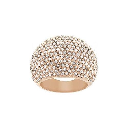 SWAROVSKI Stone Rose Gold Tone Ring Clear Crystal