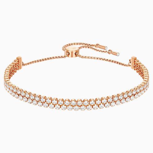 SWAROVSKI Subtle Bracelet in Rose Gold Tone and Clear Crystal  - 5224182
