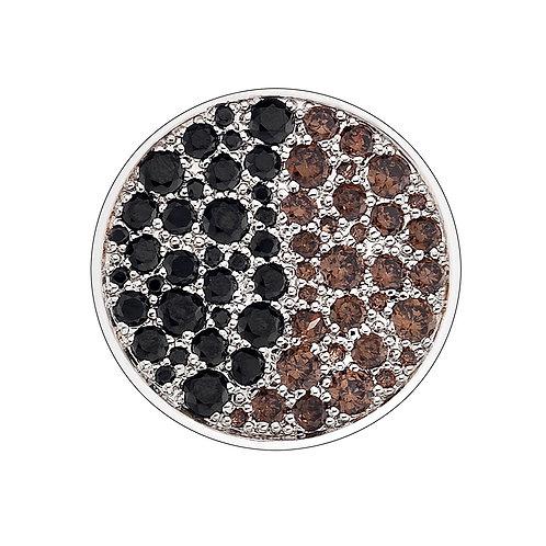 Emozioni by Hot Diamonds Corrente Brown and Black CZ Coin - EC166