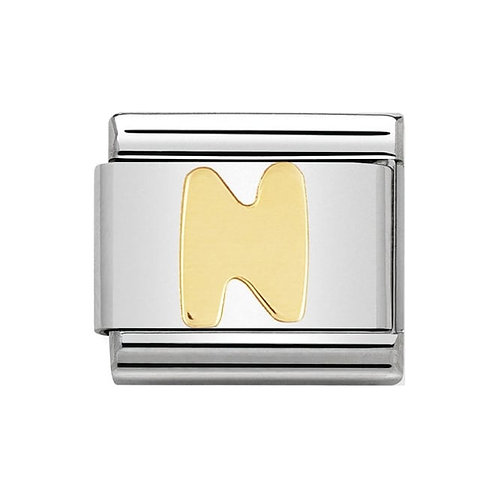 Nomination Gold Initial N Charm Link -030101/14