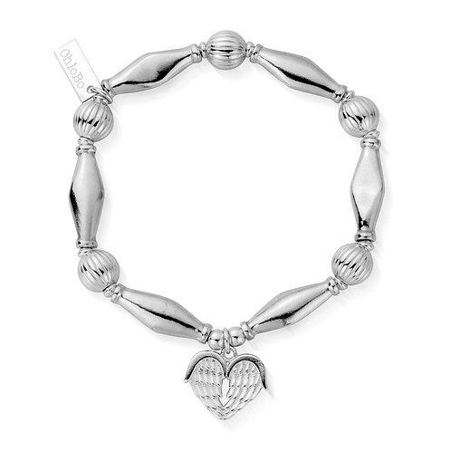 ChloBo Silver Iconic Heavenly Heart Bracelet - SBCHP921