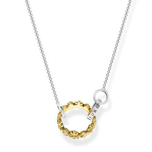 Thomas Sabo Gold Crown Together Forever Necklace - KE1988-849-7
