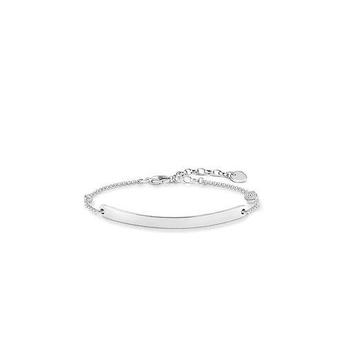 Thomas Sabo Silver Love Bridge Protection Eye Bracelet - LBA0101-051-14-L19.5v