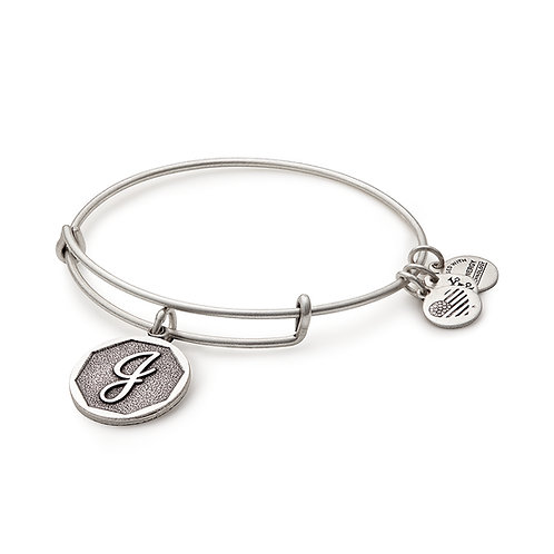Alex and Ani Rafaelian Silver Initial J Charm Bangle - A13EB14JS