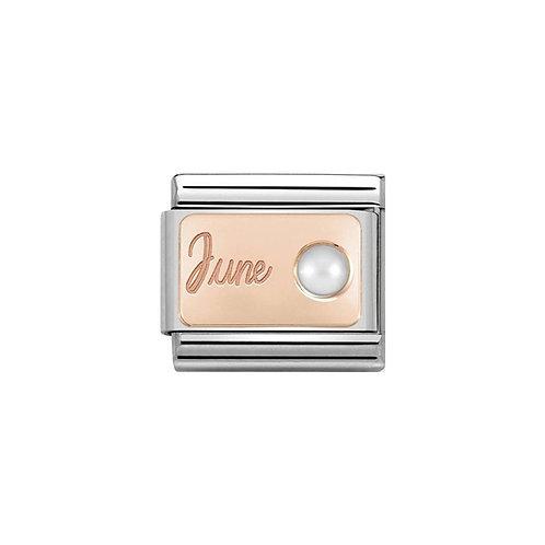 Nomination Rose Gold June Birthstone Charm Link - 430508/06