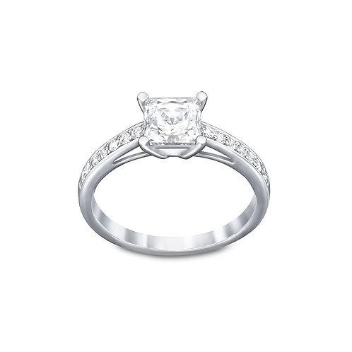 SWAROVSKI Attract Square Ring in Rhodium Tone Clear Crystal - 5032915