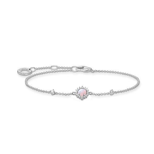 Thomas Sabo Silver Pink Opal Bracelet - A2023-166-7