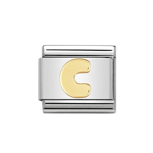 Nomination Gold Initial C Charm Link -030101/03