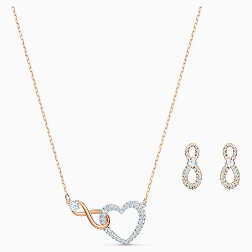 SWAROVSKI Crystal Infinity Heart Necklace and Earrings Set - 5521040