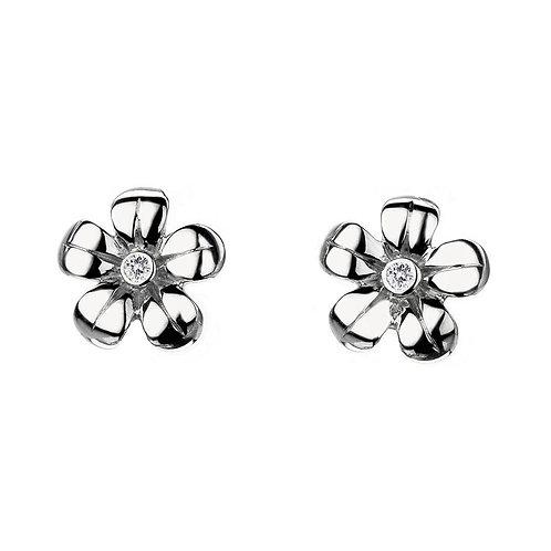 Hot Diamonds Sterling Silver Paradise Flower Stud Earrings
