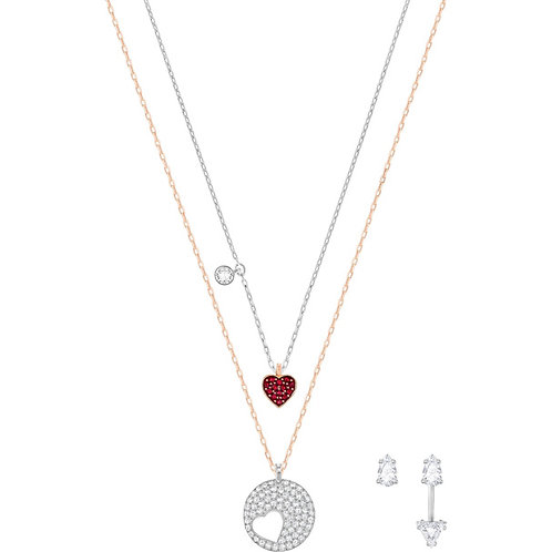 SWAROVSKI Crystal Wishes Set in Red Necklace and Earrings - 5291089