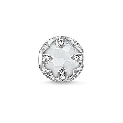 Thomas Sabo Karma Milky Quartz White Lotus Bead Charm -K0143-690-14