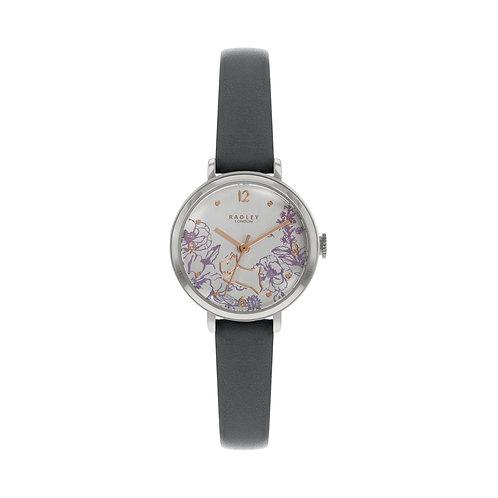 RADLEY Ladies Sketchbook Mini Grey Leather Strap Watch - RY2979