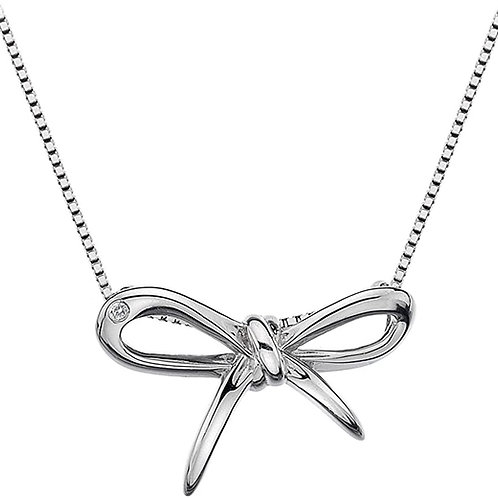 Hot Diamonds Sterling Silver Flourish Bow Necklace