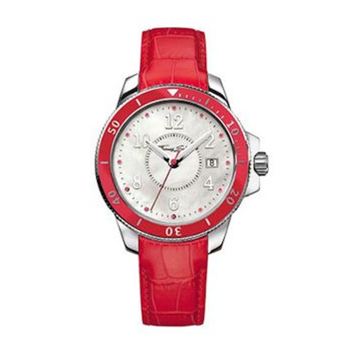 Thomas Sabo Ladies It Red Leather Strap Watch - WA0122