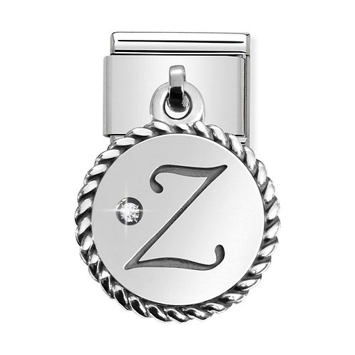 Nomination Silvershine Letter Z Dangle Charm Link - 331809/26