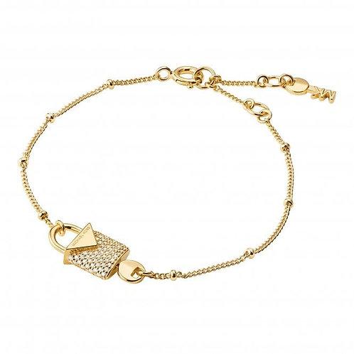 Michael Kors Colour Gold CZ Padlock Bracelet