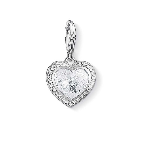 Thomas Sabo Silver CZ Heart Charm -1362-051-14