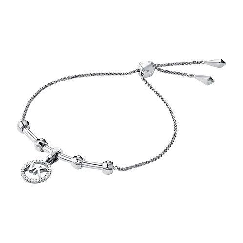 Michael Kors Sterling Silver Custom Logo Bar Bracelet