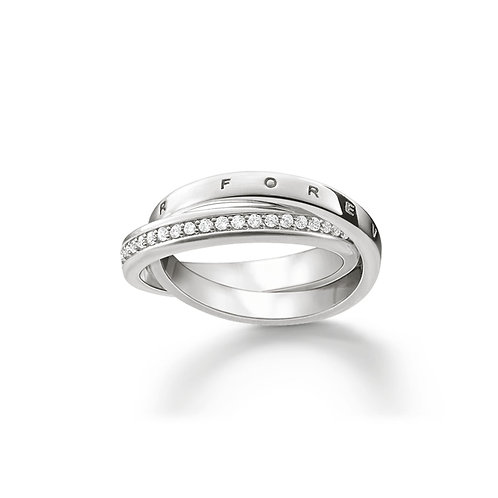 Thomas Sabo Silver Entwined Together Forever Ring - TR2099-051-14-56