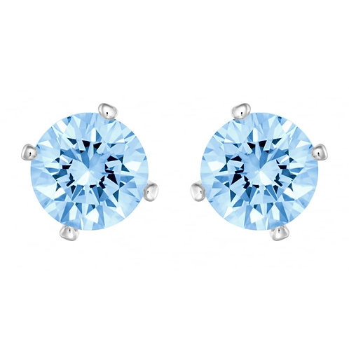 SWAROVSKI Attract Crystal Pearl and Blue Crystal Earrings - 5166806