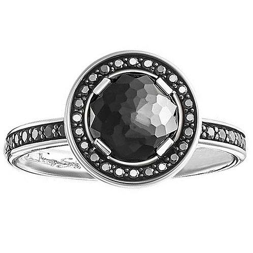 Thomas Sabo Silver Black CZ Statement Ring - TR1971-051-11-52