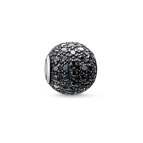 Thomas Sabo Karma Black Pave Bead Charm - K0029-051-11