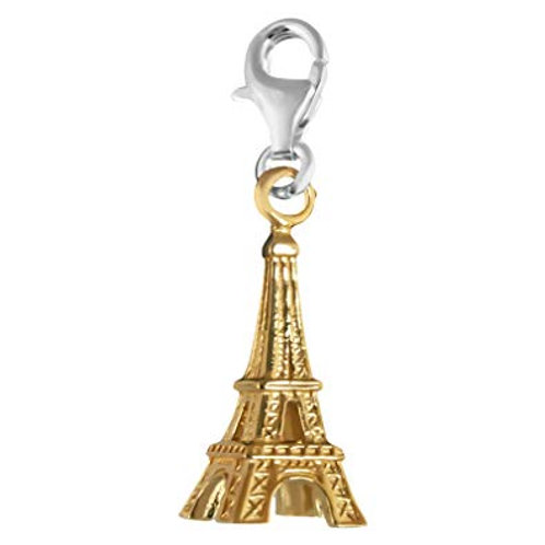 Thomas Sabo Silver Gold Eiffel Tower Charm - 0899-413-12