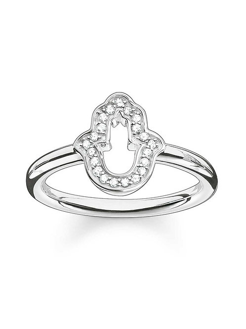 Thomas Sabo Sterling Silver Hand of Fatima Ring - TR2076-051-14-54